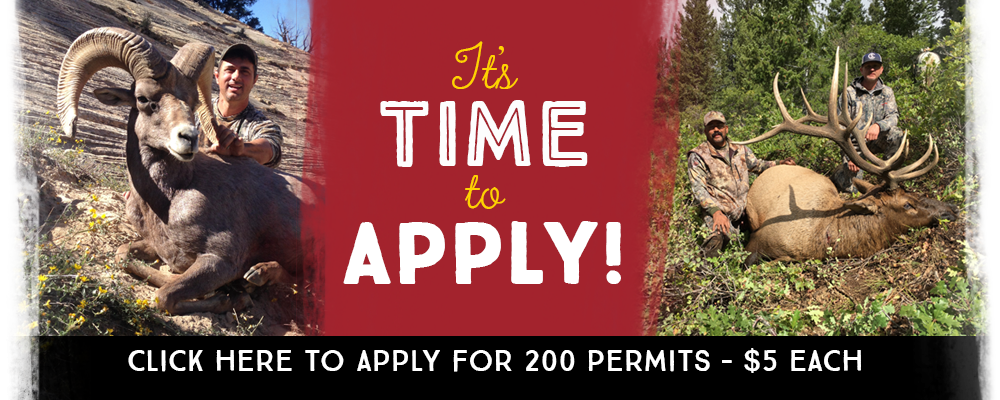 It's Time to Apply! for 200 permits - $5 each