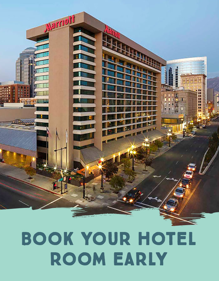 Book your hotel room early